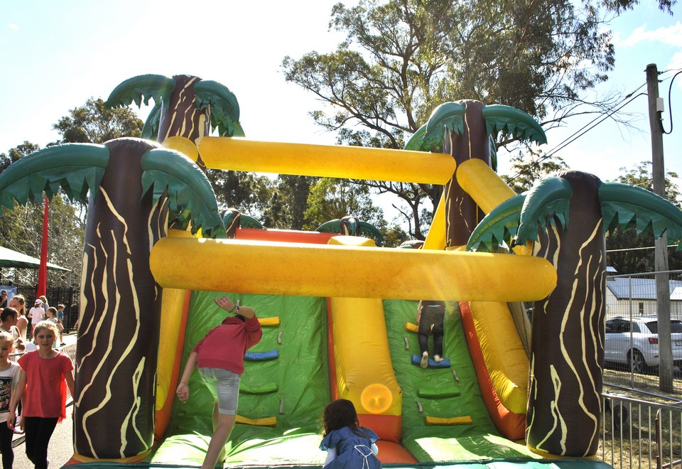Jungle Run Inflatable Obstacle Course - Carnival Rides Sydney