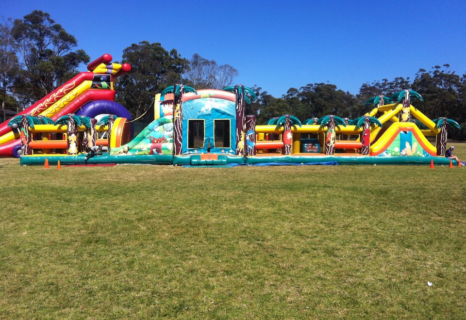 Jungle Run Inflatable Ride for Hire - Carnival Rides Sydney