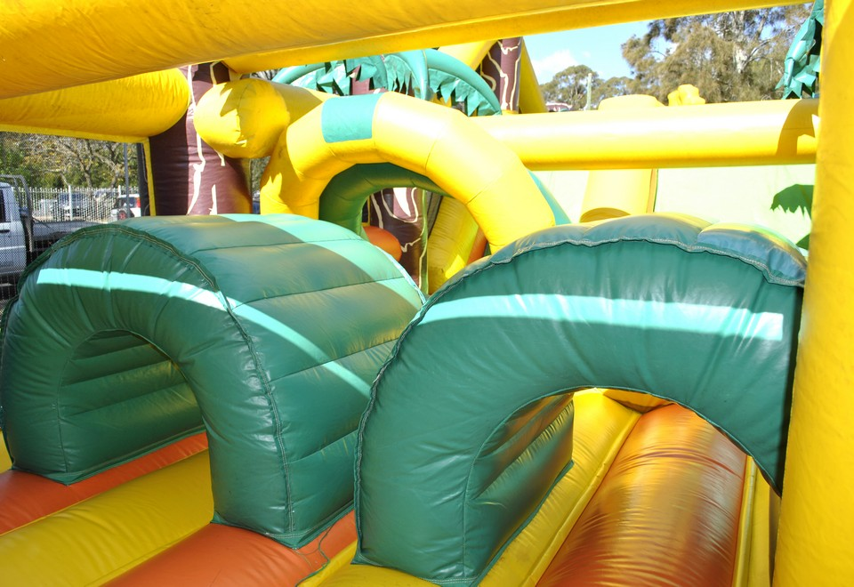 Jungle Run Inflatable Ride for hire Hawkesbury - Carnival Rides Sydney