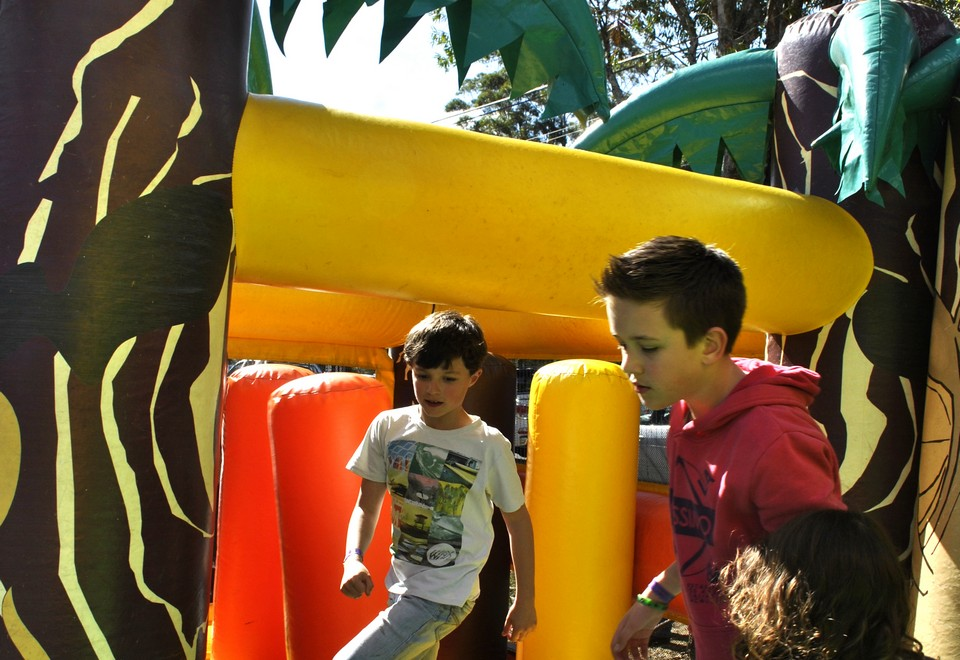 Jungle Run Jumping Castle For Hire - Carnival Rides Sydney