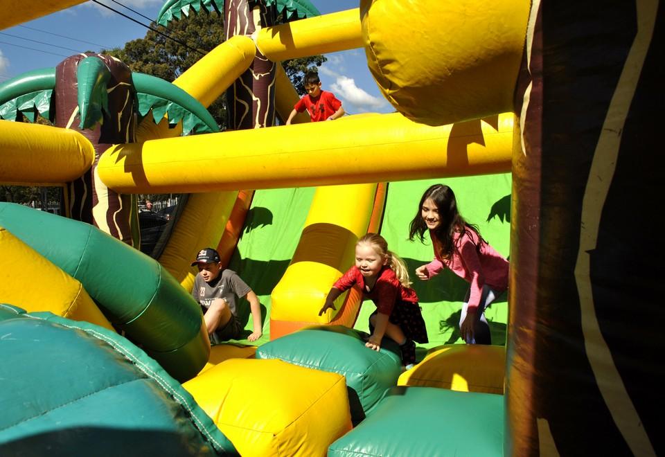 Jungle Run Jumping Castle for hire Sydney - Carnival Rides Sydney