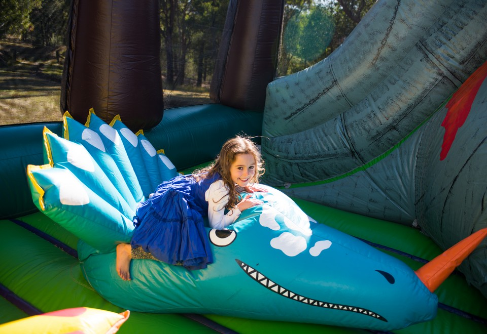 Jurassic Adventure Inflatable Ride for Hire Blue Mountains - Carnival Rides Sydney