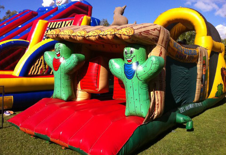 Cowboy Capers Inflatable Ride for Hire - Carnival Rides Sydney