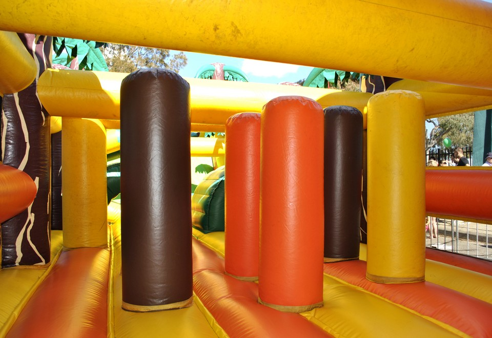 Jungle Run Inflatable Obstacle Course for Hire - Carnival Rides Sydney
