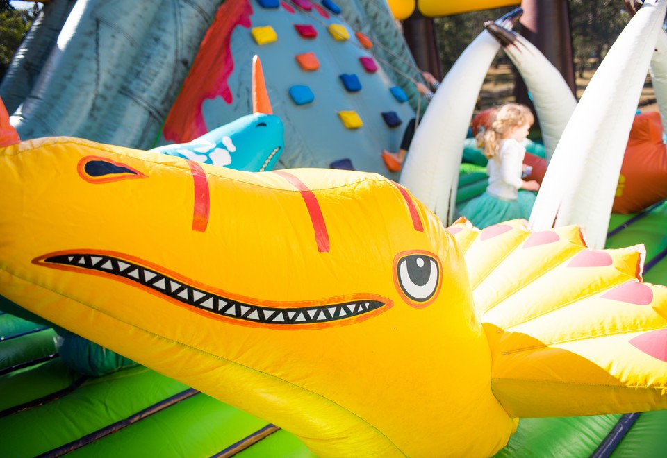 Jurassic Adventure Inflatable Ride for Hire Hawkesbury - Carnival Rides Sydney